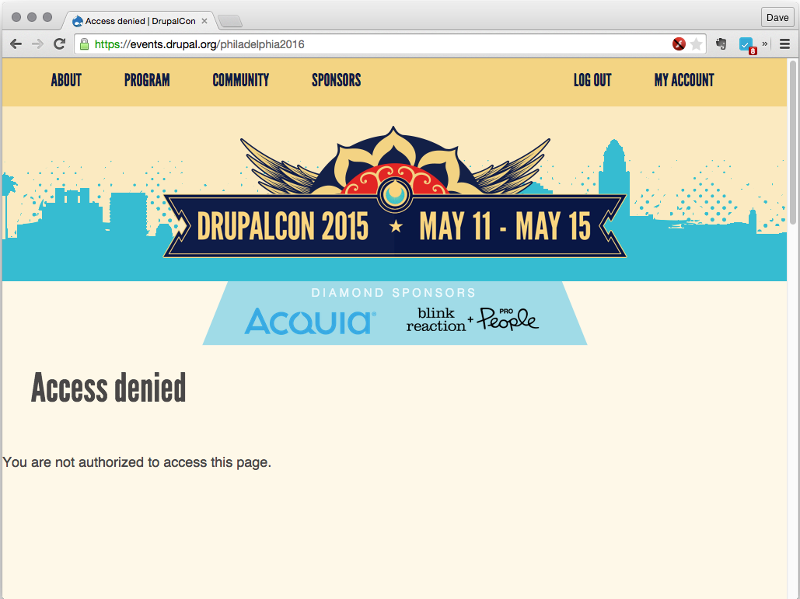 DrupalCon in Philadephia in 2016?