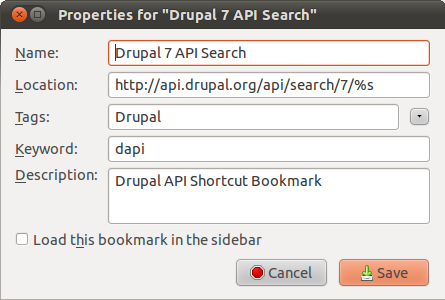 Drupal bookmarkexample