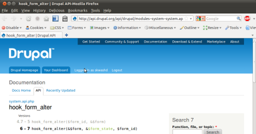 Example Drupal APIpage