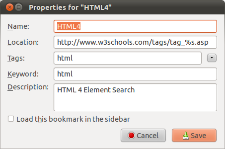 HTML bookmarkexample