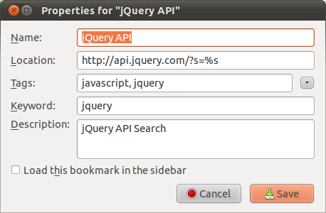jQuery API bookmarkexample