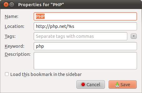 PHP bookmarkexample